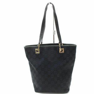 Gucci Black GG Monogram Bucket Shopper 8691036